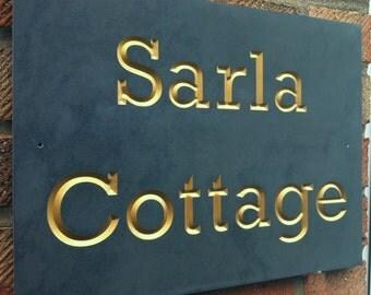 Slate House Sign 25cm x 20cm