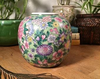 Ceramic Planter // Floral / Medium