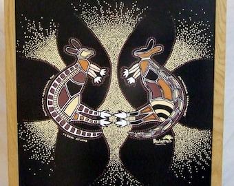 ART SALE Australian Aboriginal art Lorni Hyland Warrior Dreaming original native Bulurru Freight extra cost