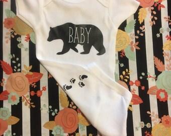 Baby Bear /Paws /boy onesie/girl onesie/expecting baby
