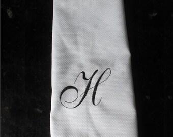 Monogram kitchen towel, personalized kitchen towel, personalized dish towel, embroidered dish towel, personalized housewarming gift