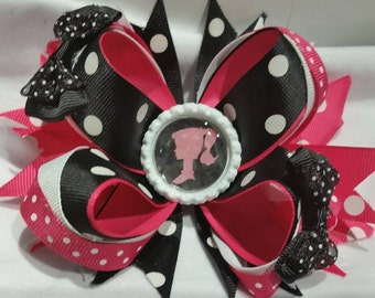 Barbie  layered hair bow over the top
