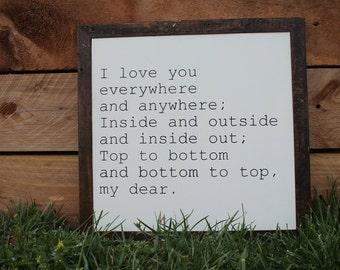 I Love You Sign, Love Sign, Love Art, Wedding Gift, Anniversary Gift, Housewarming Gift,