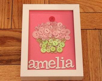 Cupcake Button Art