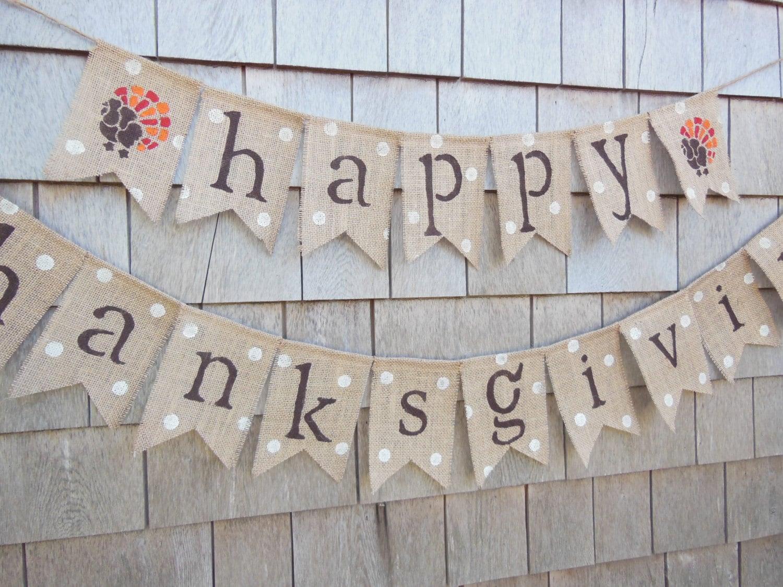 Thanksgiving Decor Thanksgiving Banner Happy Thanksgiving