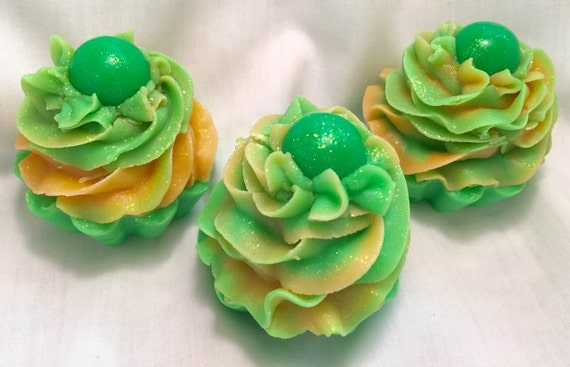 Ginger Lime~Handmade Soap~Cupcake~Cold Process Soap~Artisan Soap~Silk~Creamy