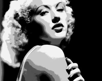 Stunning Bette Grable Pop Art Paint By Number Kit