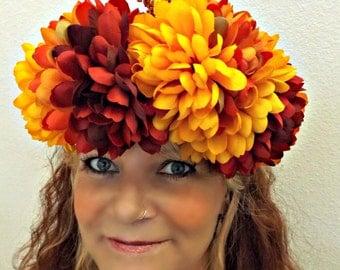Harvest crown, Autumn fairy crown, renaissance flower crown