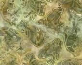 Robert Kaufman Artisan Batik Wildlife Sanctuary 2 Collection Frog Jungle Batik Fabric by the Yard AMD-14921-48
