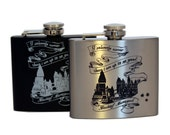 Stainless Steel Flask - Marauders Map Design 5oz