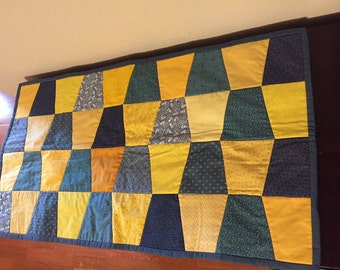 Reversible Quilted Table Runner, Wall Hanging