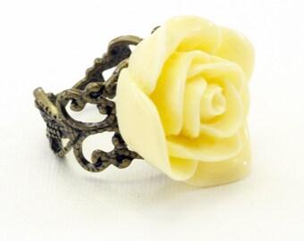 Polymer flower adjustable ring