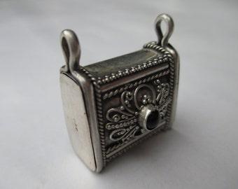 Locket; Gemstone Locket, Pendant Locket, Purse Locket, Silver Locket, Sterling Silver Locket, Sterling Silver Jewelry, Vintage