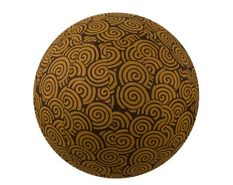 75cm Yoga Ball Cover, balance ball cover, exercise ball cover, fitness ball cover, physio ball cover - Chocolate Swirl Print