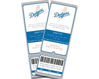 Baby Shower Invitation LA Dodgers Inspired