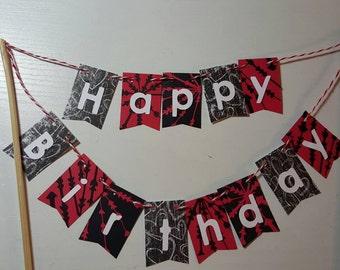"Cake Bunting, ""Arrows"", Happy Birthday, Cake Topper, Cake Banner"