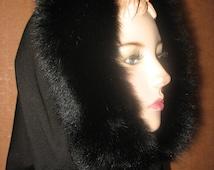 Hooded Scarf Hood Shrugs Boleros Cowl transforms polar fox fur Soft Woman Hooded Scarf Cowl Winter Accesory handmade Clothing Shrug Boleros