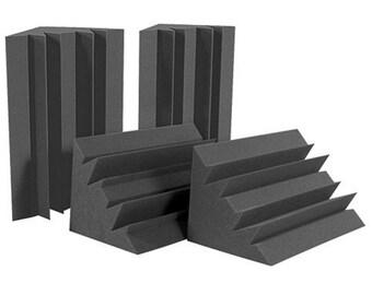 "4 Pack! Bass Absorbent Trap Corner Soundproofing Foam 12 X12 X 24"""