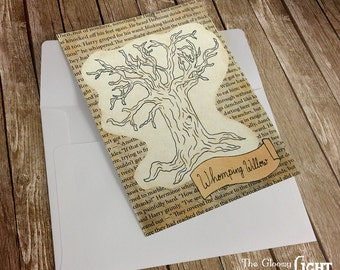 Greeting Card Whomping Willow Tree - Printable Instant digital download - Magical Gift Card