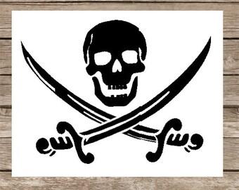 Pirate SVG Skull SVG cut file Pirate Caribbean Jack Sparrow Pirate Flag Swords Caribbean Pirates Johnny Depp cricut svg designs vinyl