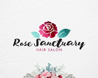 Rose Logo, hand drawn typography, Photography Logo Design, Pre Made Logo