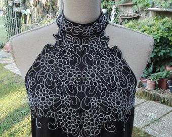 DRESS sale! women's black satin tulle Wedding Dress Bridesmaid Dress vintage woman chic black