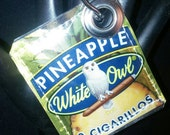 Pineapple Cigarillo 420 Cannabis Recycled White Owl Blunt Wrapper Key Chain FOB