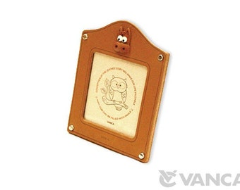 Horse Leather Square Picture/Photo Frame *VANCA* Made in Japan #26156 Free Shipping