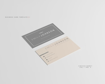 Business Card Template -- Printable Business Card Design, DIY Business Card -- PHOTOGRAPHY Business Card