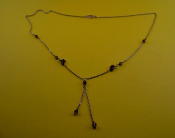 Mexican Sterling Silver Amythest Necklace