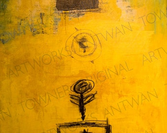"yellow abstract painting ""exactly"""