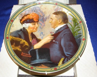 Love's Reward 8th in Norman Rockwell's American Dream Plate Knowles