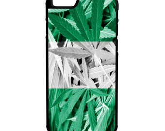 Nigeria Weed Flag iPhone Galaxy Note LG HTC Hybrid Rubber Protective Case