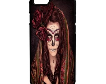 Day Of The Dead iPhone Galaxy Note LG HTC Hybrid Rubber Protective Case