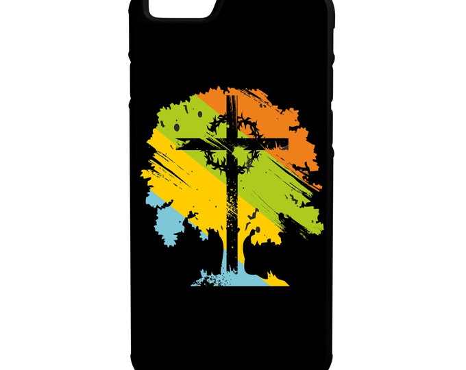 Cross on Tree iPhone Galaxy Note LG HTC  Hybrid Rubber Protective Case