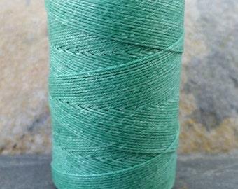 3 Ply Sage Waxed Irish Linen Thread 10 Yard WIL42,sage irish linen,green linen thread,sage waxed thread,3 ply irish linen,irish linen thread