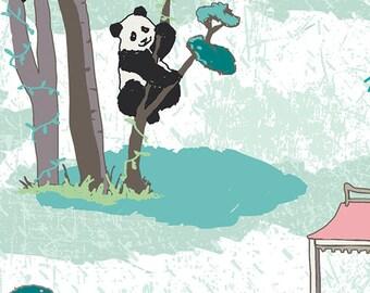 Pandalicious - Pandagarden Recess - Katarina Roccella - Art Gallery Fabrics (PND-10130)
