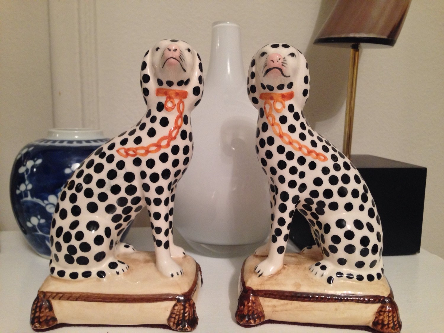 Vintage Fitz And Floyd Dalmatian Bookends Fitz And Floyd