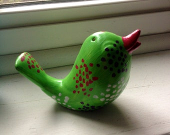Refurbished Little Bird (Salt/Pepper Shaker)-Green