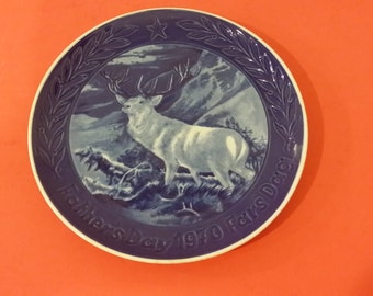 Vintage Marmot China -Father's Day Plate Elk, 1970
