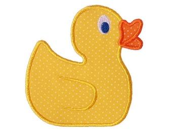 Rubber Duck Applique Machine Embroidery Design