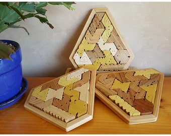 Hexiamond Heirloom Quality Wood Puzzle