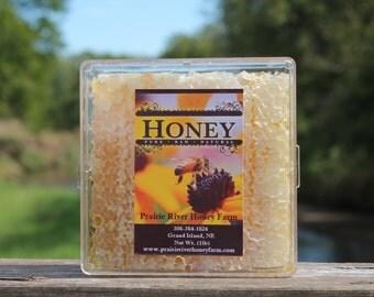 Raw Comb Honey Pure Natural Nebraska Honey (one) 1lb Cut Comb