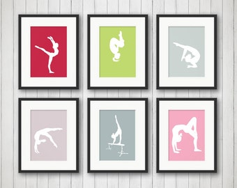 Gymnastic Bedroom Decor - Girl Sports Decor - Gymnastic Print - Teen Room - Children's Room - Playroom Decor - Kids Room Decor - Game Room