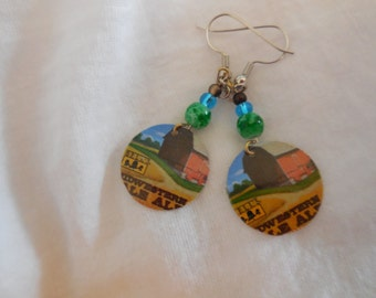 Bell's Midwestern Pale Ale Beer Cap Earrings