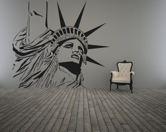 Statue of Liberty Wall Decor Decal Sticker, Living Room Bedroom Modern Lady Liberty Wall Art Nural