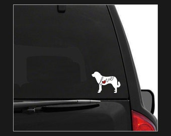 Anatolian Shepherd Love: A Car Window Vinyl Decal - Laptop Sticker - Dog Breed Decals - Dog Stickers - Cooler Decal - Gift for Dog Lover
