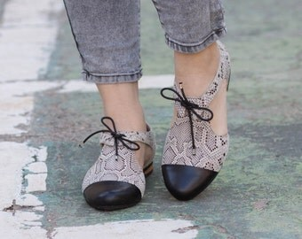 New! Leather Sandals, Snake Shoes, Leather Shoes, Women Shoes, Oxfords, Flats, Free Shipping