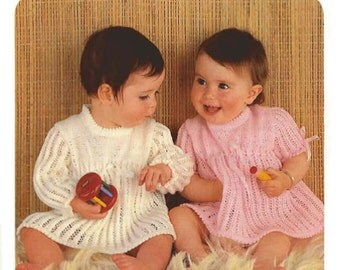 Baby Knitted Dresses. Vintage Pattern PDF