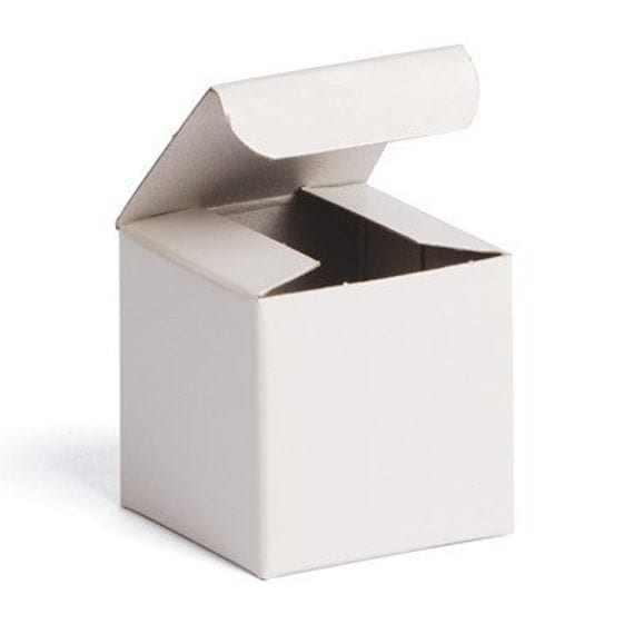 10pack Gift Boxes White Box 2x2x2 Wedding Favors Jewelry Box Paper Box From